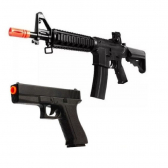 Kit Airsoft Vg Spring Rifle M4 8907 E Pistola Gk V307  - Mkp000943000686