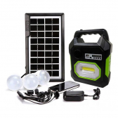 Kit Luminaria Solar Placa Bluetooth Emergencia Radio - Mkp000936000024