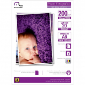 Papel Photo Glossy 200Grs Tam. A6 10X15 C/20Fls Multilaser Mkp000066000025