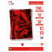 Papel Photo Glossy C/ 10 Folhas 150Gr A4 Multilaser - Mkp000066000341