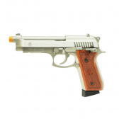 Pistola Airsoft Taurus Pt92 Hairline Silver   Full Metal Co2 Gbb 6,0Mm Mkp000197002230